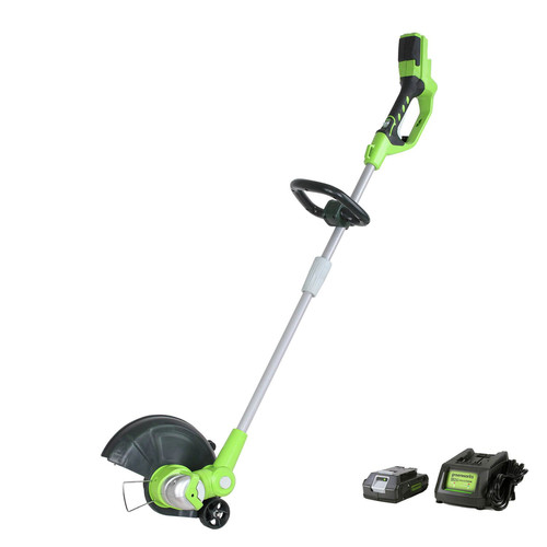 Greenworks 2103002 ST40B410 40V/12 in. String Trimmer with 4 Ah Battery and Charger