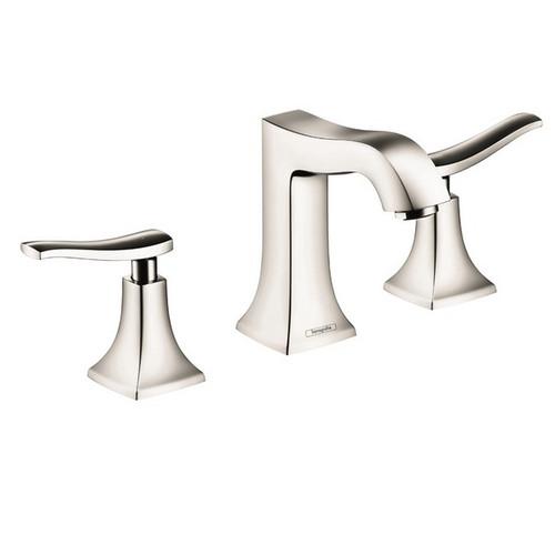 Hansgrohe 31073831 Metris Widespread Bathroom Faucet (Polished Nickel)
