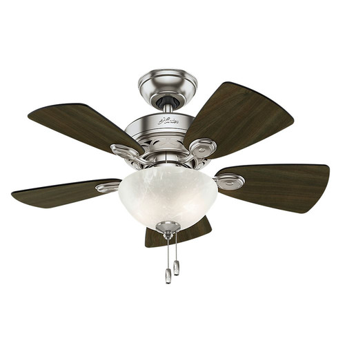Hunter 52092 34 in. Watson Brushed Nickel Ceiling Fan with Light