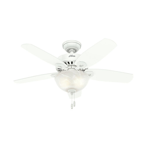 Hunter 52217 42 in. Builder Small Room Snow White Ceiling Fan with Light