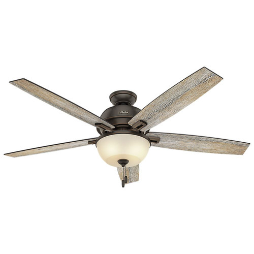 Hunter 54170 60 in. Donegan Onyx Bengal Ceiling Fan with Light