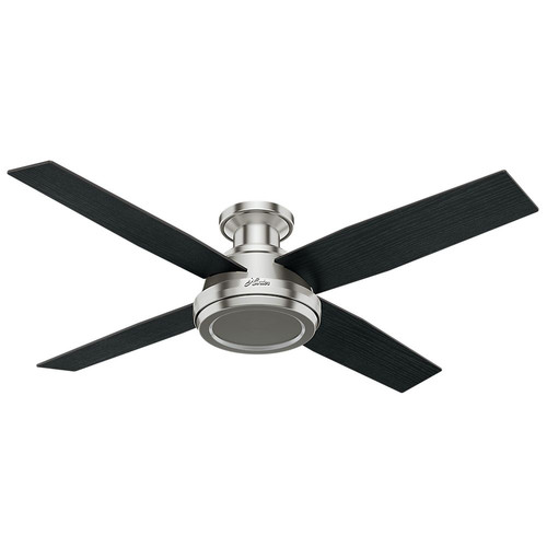 Hunter 59247 52 in. Dempsey Brushed Nickel Ceiling Fan with Remote