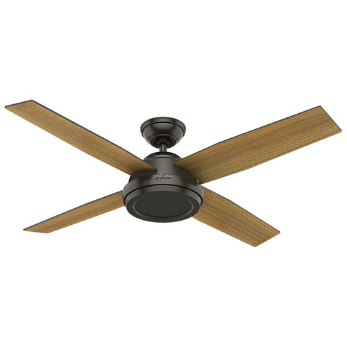 Hunter 59448 52 in. Dempsey Noble Bronze Ceiling Fan with Handheld Remote