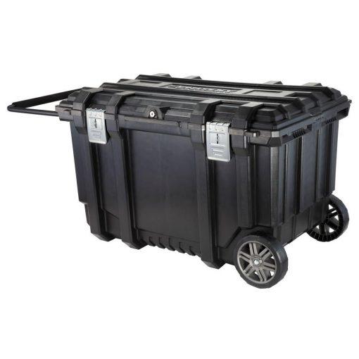 Husky 37 in. Mobile Job Box Utility Cart Black