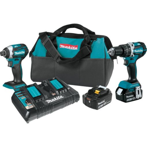 Makita 18-Volt 5.0Ah LXT Lithium-Ion Brushless Cordless 2-Piece Combo Kit (Hammer Drill/Impact Driver)