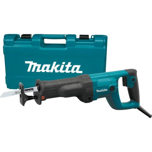 Makita 11 Amp Corded Variable Speed Reciprocating Saw With Wood Cutting Blade, Metal Cutting Blade and Hard Case