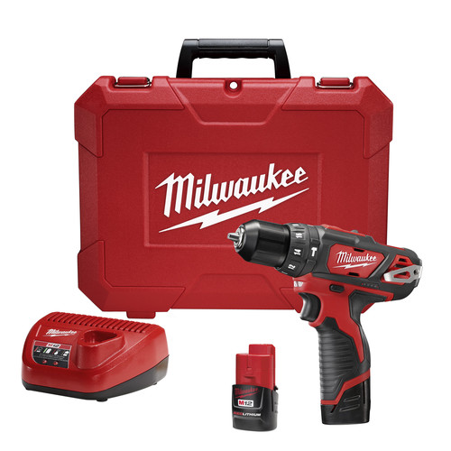 Milwaukee 2408-21 M12 Cordless Lithium-Ion 3/8 in. Hammer Drill/Driver Kit