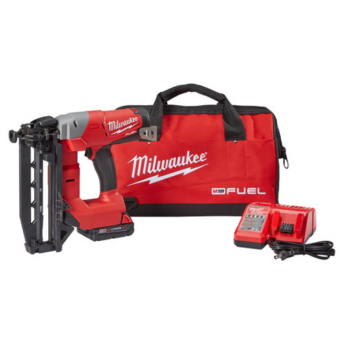 Milwaukee 2741-21CT M18 FUEL Cordless Lithium-Ion 16-Gauge Brushless Straight Finish Nailer Kit