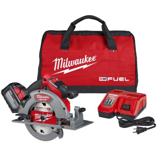 M18 FUEL 18-Volt Lithium-Ion Brushless Cordless 7-1/4 in. Circular Saw Kit with (1) 12.0Ah Battery, Charger, Tool Bag