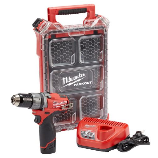Milwaukee M12 FUEL 12-Volt Lithium-Ion Brushless Cordless 1/2 in. Hammer Drill Kit with Free Packout Case