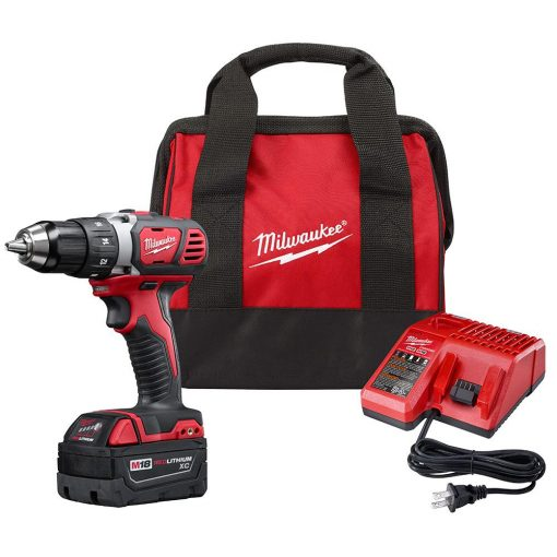 Milwaukee M18 18-Volt Lithium-Ion Cordless 1/2 in. Drill Driver Kit W/ (1) 3.0Ah Battery, Charger & Bag