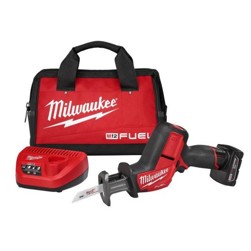 Milwaukee M12 FUEL 12-Volt Lithium-Ion Brushless Cordless HACKZALL Reciprocating Saw Kit W/(1) 4.0Ah Batteries, Charger & Tool Bag