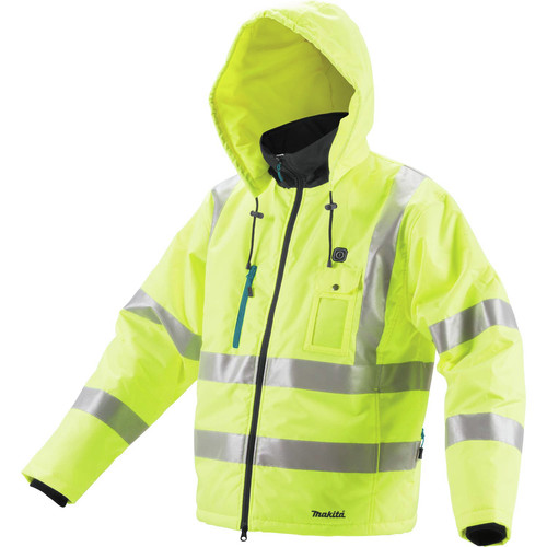 Makita DCJ206ZS 18V LXT Lithium-Ion Cordless High Visibility Heated Jacket (Bare Tool) - Small