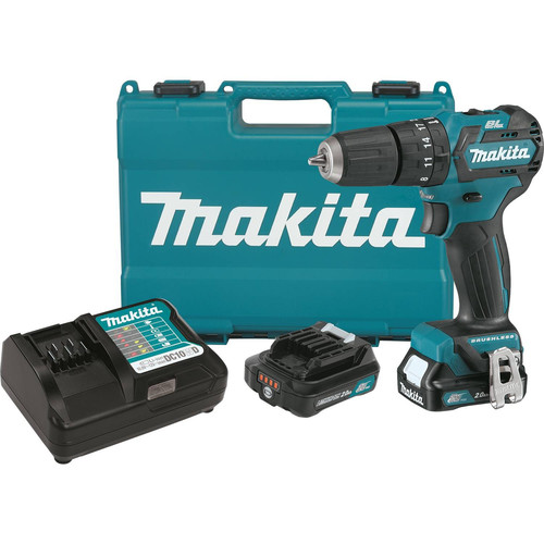 Makita PH05R1 12V max CXT 2.0 Ah Lithium-Ion Cordless Brushless 3/8 in. Hammer Drill Driver Kit