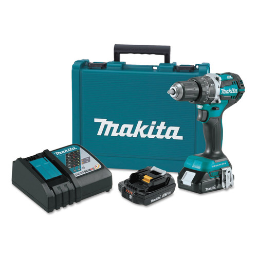 Makita XPH12R 18V LXT 2.0 Ah Cordless Lithium-Ion Brushless Compact 1/2 in. Hammer Drill