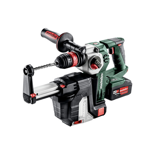 Metabo 600211950 KHA 18 LTX BL 24 Quick 18V 1 in. SDS-Plus Brushless Lithium-Ion Rotary Hammer with HEPA Vacuum Attachment & Batteries