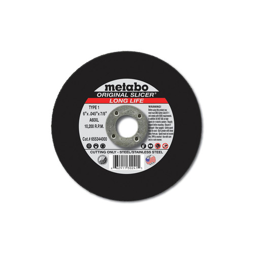 Metabo 655332000-100 4-1/2 in. x 1/16 in. A36TZ Type 1 SLICER Cutting Wheels (100 Pc)