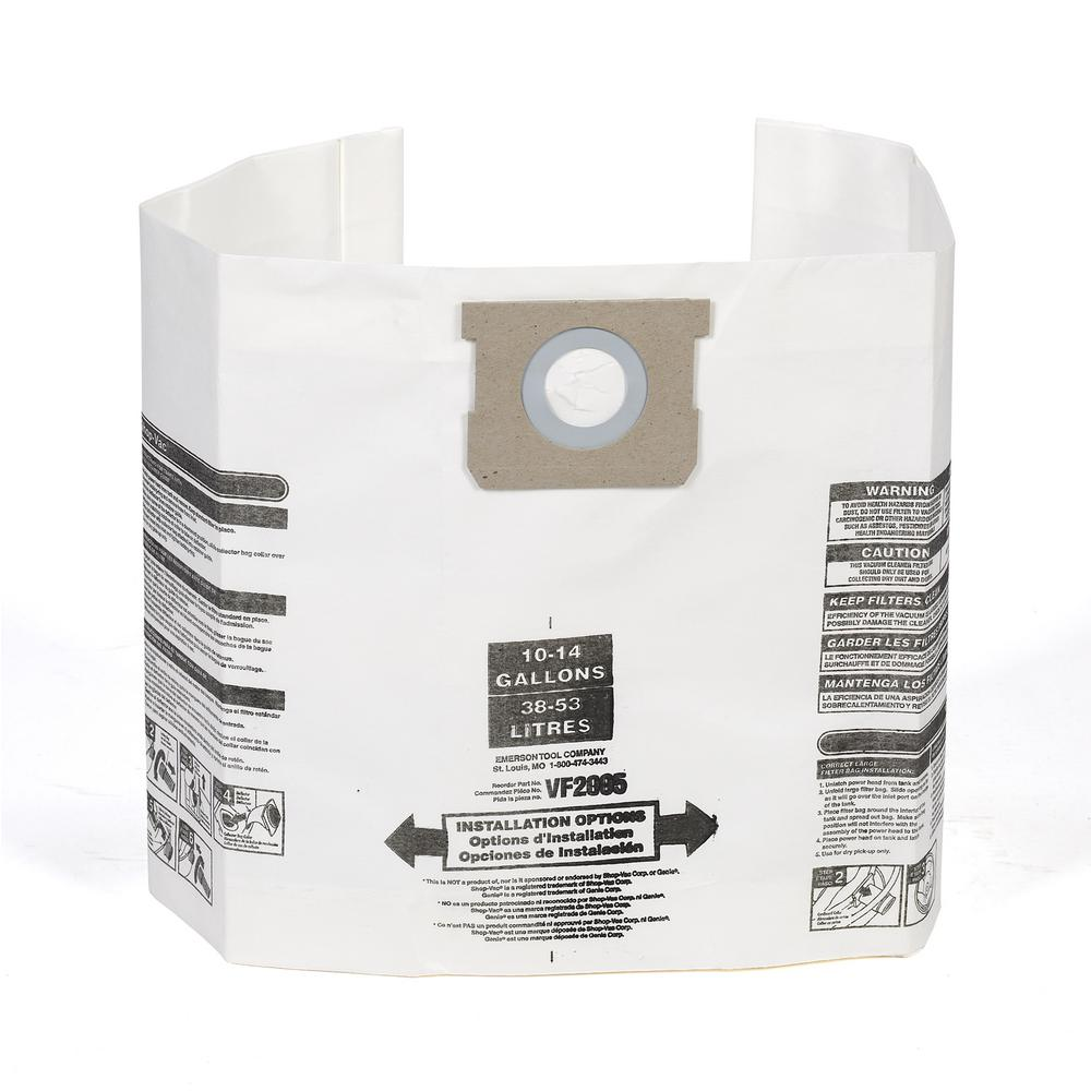 Multi-Fit Dust Bag Filter for 10 Gal. to 14 Gal. Genie and Shop-Vac Wet Dry Vacs (24-Pack)