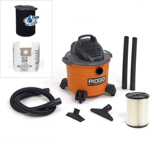 RIDGID 9 Gal. 4.25-Peak HP Wet Dry Vac with Wet Filter and Dust Bags (2-Pack)