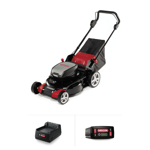 Oregon 591079 40V MAX LM400 Lawnmower Kit with 4.0 Ah Battery Pack and Standard Charger
