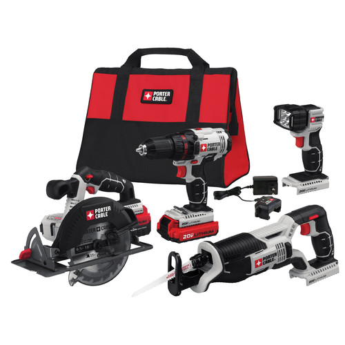 Porter-Cable PCCK614L4 20V MAX Lithium-Ion 4-Tool Combo Kit