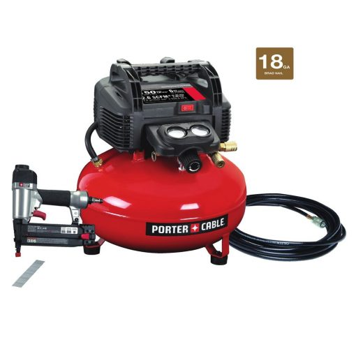 Porter-Cable 6 Gal. 150 PSI Portable Electric Air Compressor and 18-Gauge Brad Nailer Combo Kit (1-Tool)