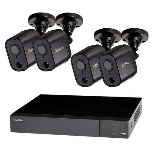 Q-SEE 4-Channel 1080p 1TB Video Surveillance DVR System with 4 PIR Bullet Cameras