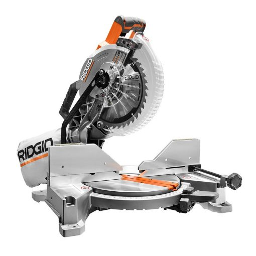 RIDGID 15 Amp Corded 10 In. Dual Bevel Miter Saw with Laser