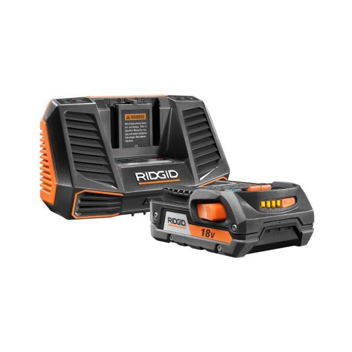 RIDGID 18-Volt HYPER Lithium-Ion Battery Pack 2.0Ah and Charger Kit