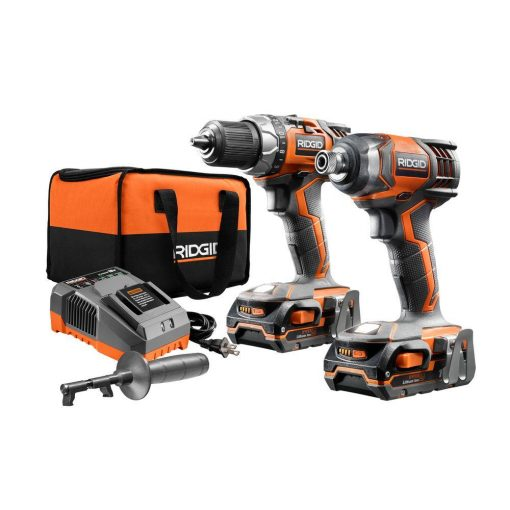 RIDGID 18-Volt X4 Li-Ion Cordless Drill/Driver and Impact Driver 2-Tool Combo Kit with (2) 1.5Ah Batteries, Charger and Bag