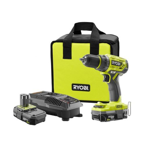 Ryobi 18-Volt ONE+ Lithium-Ion Cordless Brushless 1/2 in. Drill/Driver with (2) 2.0 Ah Batteries, Charger, and Bag
