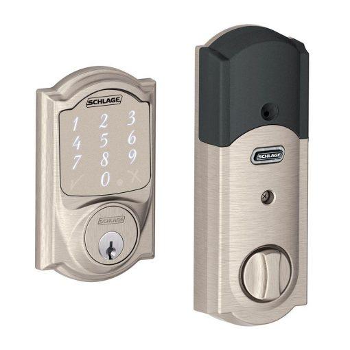 Schlage Camelot Satin Nickel Sense Smart Lock