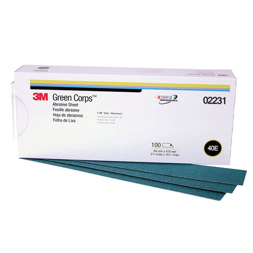 3M 2231 Green Corps Stikit Production Sheet 2-3/4 in. x 16-1/2 in. 40E (100-Pack)