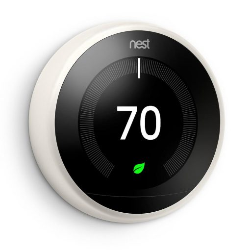 Nest Smart Learning Wi-Fi Programmable Thermostat, 3rd Gen, White